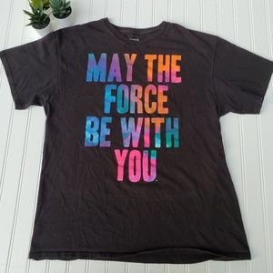 Official Star Wars Force Rainbow L Tee Shirt